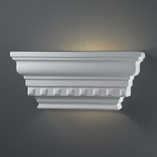 <strong>Justice Design Group</strong> Ambiance Rectangular Dentil Molding 1 Light Wall Sconce