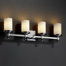 <strong>Justice Design Group</strong> Fusion Deco 4 Light Bath Vanity Light