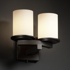 Fusion Dakota Curved-Bar 2 Light Wall Sconce