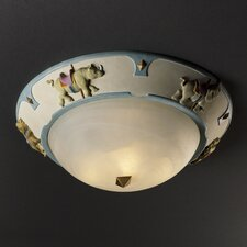 "Kid's Room 17"" 3 Light Flush Mount"
