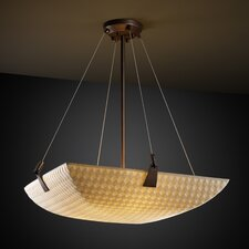 <strong>Justice Design Group</strong> Porcelina 3 Light Inverted Pendant