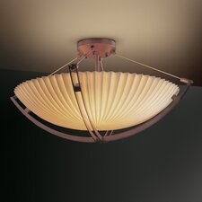 Crossbar Porcelina 12 Light Semi Flush Mount