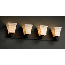 Limoges Modular 4 Light Bath Vanity Light with Translucent Shade