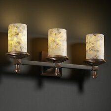 <strong>Justice Design Group</strong> Alabaster Rocks Deco 3 Light Bath Vanity Light