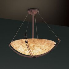 <strong>Justice Design Group</strong> Alabaster Rocks 3 Light Inverted Pendant