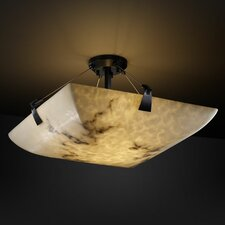 <strong>Justice Design Group</strong> LumenAria Tapered Clips 3 Light Semi Flush Mount