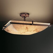 <strong>Justice Design Group</strong> LumenAria Ring 3 Light Square Semi Flush Mount