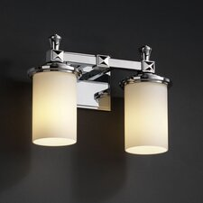 <strong>Justice Design Group</strong> Fusion Deco 2 Light Bath Vanity Light