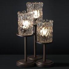 "Veneto Luce Dakota Portable 16"" H Table Lamp with Drum Shade (Set of 3)"