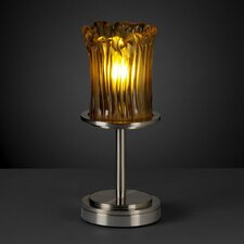 "Veneto Luce Dakota Portable 12"" H Table Lamp with Drum Shade"