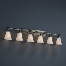 <strong>Justice Design Group</strong> Tradition Clouds 6 Light Bath Vanity Light