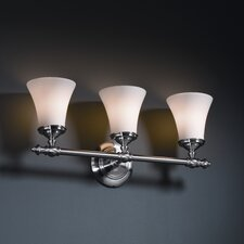 <strong>Justice Design Group</strong> Fusion Tradition 3 Light Bath Vanity Light