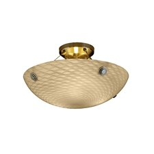 <strong>Justice Design Group</strong> Finials Fusion 3 Light Semi Flush Mount