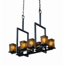 <strong>Justice Design Group</strong> Montana Veneto Luce 8-Up and 3-Down Light Bridge Chandelier