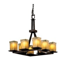 <strong>Justice Design Group</strong> Montana Veneto Luce 8 Light Chandelier
