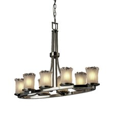 Dakota Veneto Luce 8 Light Oval Chandelier