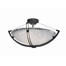 Crossbar Veneto Luce 6 Light Semi Flush Mount