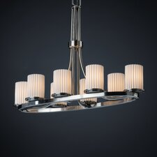 Dakota Limoges 8 Light Oval Chandelier