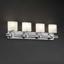 <strong>Justice Design Group</strong> Fusion Argyle 4 Light Bath Vanity Light