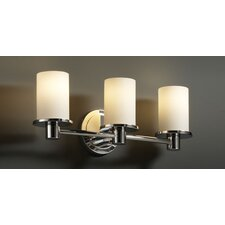 Fusion Rondo 3 Light Bath Vanity Light with Mercury Glass