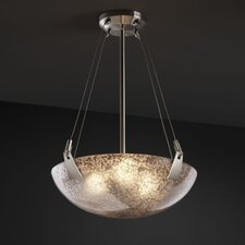 <strong>Justice Design Group</strong> Fusion 3 Light Inverted Pendant Bowl
