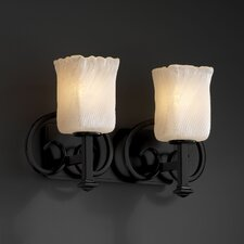 <strong>Justice Design Group</strong> Heritage 2 Light Bath Vanity Light