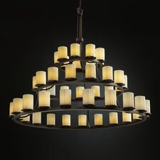 <strong>Justice Design Group</strong> Limoges Dakota 45 Light Chandelier