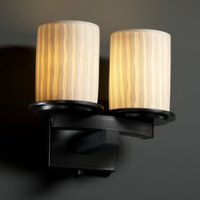 <strong>Justice Design Group</strong> Limoges Dakota 2 Light Wall Sconce