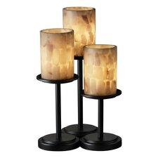 Alabaster Rocks Dakota Portable Table Lamp with Drum Shade (Set of 3)