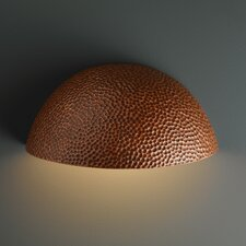 Ambiance Quarter Sphere 1 Light Outdoor Wall Sconce