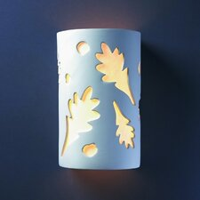 Ambiance Oak Leaves 1 Light Outdoor Wall Sconce