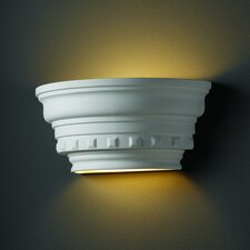 <strong>Justice Design Group</strong> Ambiance Curved Dentil Molding 1 Light Wall Sconce