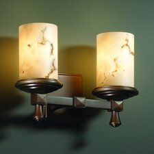 <strong>Justice Design Group</strong> LumenAria Deco 2 Light Bath Vanity Light