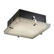 <strong>Justice Design Group</strong> Fusion Clips 2 Light Square Flush Mount