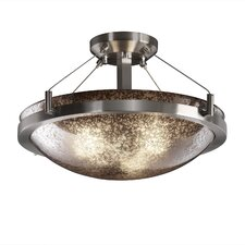 Fusion Two Light Round Semi Flush Bowl
