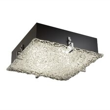 <strong>Justice Design Group</strong> Veneto Luce Clips 2 Light Square Flush Mount