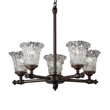 <strong>Justice Design Group</strong> Veneto Luce Tradition 5 Light Chandelier