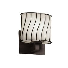 Wire Glass Modular 1 Uplight Wall Sconce