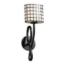 <strong>Justice Design Group</strong> Wire Glass Capellini 1 Light Wall Sconce