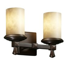 <strong>Justice Design Group</strong> Clouds Deco 2 Light Bath Vanity Light
