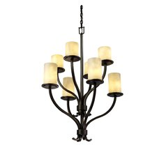 <strong>Justice Design Group</strong> Clouds Sonoma 8 Light Chandelier