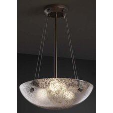 "<strong>Justice Design Group</strong> Fusion 18"" Pendant Bowl with Pair Cylindrical Finials"