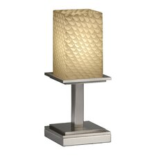 "Fusion Montana Portable 12.75"" H Table Lamp with Square Shade"