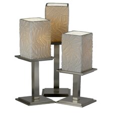 """Limoges Montana Portable 16.75"""" H Table Lamp with Square Shade (Set of 3)"""