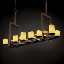 <strong>Justice Design Group</strong> Dakota CandleAria 12-Up and 5-Down Light Tall Bridge Chandelier