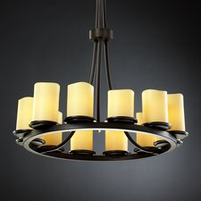 <strong>Justice Design Group</strong> CandleAria Dakota 12 Light Chandelier with Additional Chain