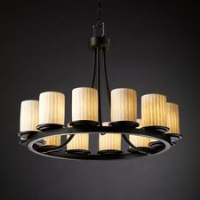 <strong>Justice Design Group</strong> Limoges Dakota 12 Light Chandelier