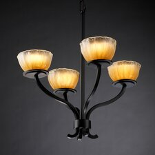 <strong>Justice Design Group</strong> Veneto Luce Sonoma 4 Light Chandelier