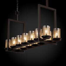 <strong>Justice Design Group</strong> Fusion Dakota 14 Light Bridge Chandelier