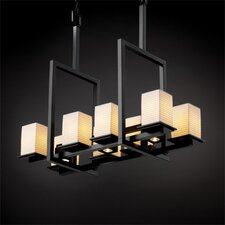 <strong>Justice Design Group</strong> Montana Limoges 8-Up and 3-Down Light Bridge Chandelier